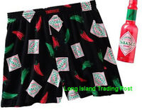 HOT SPICY Mens Tabasco Lounge Sleep Boxers Shorts PJ in Collector Bottle S 28/30