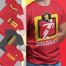 Mens Choice Of BELGIUM Football T-Shirts 2021 Belgian Tee Euro Shipping