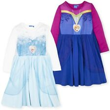 Disney Frozen Girls Long Sleeve Nightdress Nightie Anna Elsa Pyjamas Pjs 3-8  Yrs 9ee984318