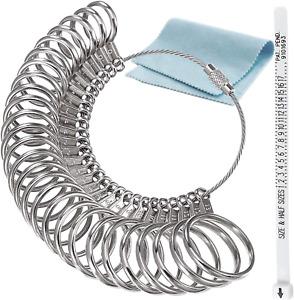 RSVLEISI Stainless Ring Sizers Finger Ring Sizer Measuring Tool, Men's and Women