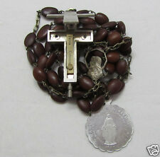 † HTF ANTIQUE PILGRAMAGE VATICAN CATACOMB RELIC CRUCIFIX SPINA CHRISTI ROSARY †