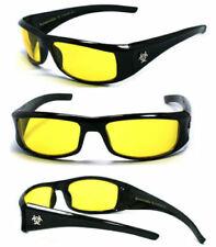 New BioHazard Mens UV400 Sunglasses + Pouch - Night Driving Lens BZ1