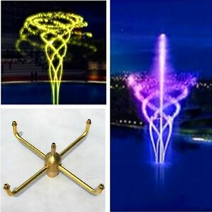 Metal Brass Rotating Fountain Nozzles Garden Pond Watering Kits Tools Equipment