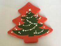 "Waechtersbach Trivet Christmas Tree Wall Hanging Holiday Decor Cheese Board 10"""