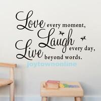 Live Laugh Love Quote Vinyl Decal Removable Art Wall Stickers Home Decor Mural #