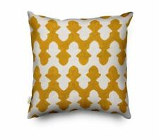 White and Yellow Scandinavia Geometry Embroidery Cushion Covers 45 x 45 cm