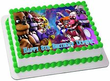 FIVE NIGHTS AT FREDDY'S   ICING  CAKE TOPPER PARTY IMAGE FROSTING SHEET