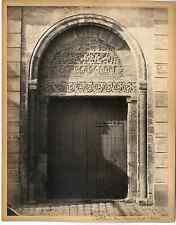 France, cathédrale de Bourges, porte St. Ursin  Vintage albumen print  Tirage