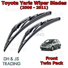 "(06-11) Toyota Yaris Front Wiper Blades Window Windscreen Set 24"" 15"" Wipers MK2"