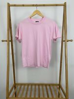 VTG Screen Stars Best 90s Bold Pink Blank Single Stitch 50/50 T-Shirt Size M