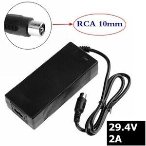 29.4V 2A electric bike lithium battery charger for 24V 25.2V 25.9V RCA Plug