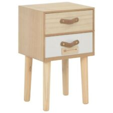 vidaXL Solid Pinewood Bedside Cabinet With 2 Drawers Telephone Side Stand
