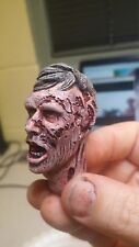 custom painted walking dead railroad track zombie head  for 12 inch body