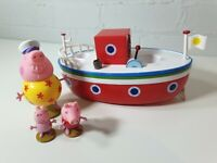 Peppa Pig New Version Grandpa Pig RED Boat With FIGURES