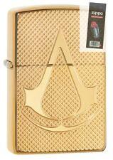 Zippo 29519 Assassins Creed Armor High Polish Brass Finish Lighter + FLINT PACK