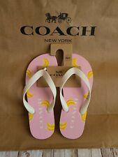 Coach Flip Flops Size 5 NWT Summer White Pink