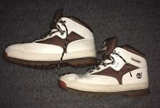 Vintage Timberland white Brown hiking ankle boots mens boots 6M 96962