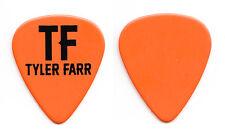 Tyler Farr Orange Guitar Pick 2015 Tour
