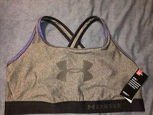 Women's Under Armour Sports Bra Black & Gray - Size 3X 3XL NEW NWT $40.00
