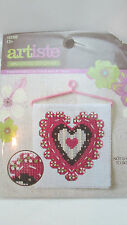 Artiste Mini Cross Stitch Kit with Hanger - Heart