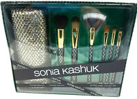 Sonia Kashuk Limited Edition Gilded Cage Make Up Face Eye Brush Set With Case