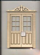 Door - Double Exterior LD802A dollhouse 1/12 scale miniature USA GA  wood