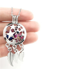 K730 Alloy Star Pentagram Dream Catcher Charms Pearl Cage Stainless Chain