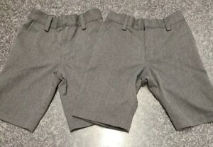 Two Pairs Boys Next Grey School Shorts Aged 7 Years. Excellent condition.