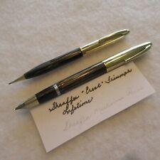 """Vintage SHEAFFER """"Crest Triumph Lifetime Fountain Pen & Mech. Pencil,.C1942-45"""
