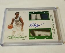 2015-16 Panini Flawless Andrew Wiggins dual patch auto emerald 5/5 Timberwolves