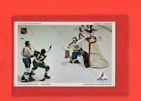 1971-72 Canadiens Ken Dryden Pro Star NHLPA Postcard Nrmnt+  VS  Minnesota