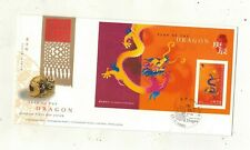Hong Kong Year Of The Dragon 23 Jan 2000 Official FDC Hong Kong Postmark Z4327