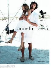 PUBLICITE ADVERTISING 086  2012  Minelli  chaussures  homme enfant