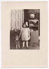 PHOTO ANCIENNE Jeu Jouet Toy Doll Poupée Enfant Poupon Petite Fille 1930 Étrange