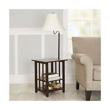 Better Homes and Gardens 3-Rack End Table Floor Lamp Espresso Finish