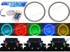 76-16 Jeep Wrangler Multi-Color Changing Shift LED RGB Halo Headlight Rings Kit