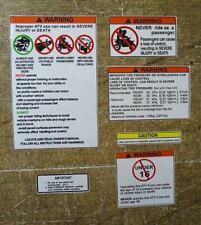 Yamaha Banshee Warning Symbols Decals Stickers Labels Graphics 6pc