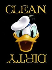 METAL DISHWASHER MAGNET Image Of Donald Duck Clean Dirty Dishes Bird MAGNET