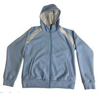 Columbia Convert Full Zip Fleece Hooded Jacket Women LG Sky Blue Retro