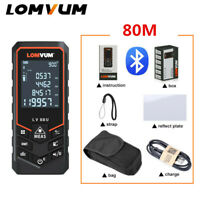 Lomvum Digital 80M Laser Distance Meter Bluetooth Range Finder Diastimeter USB