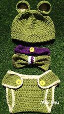 Disfraz Conjunto Bebe 0/3 Meses Ideal Atrezo Fotografía  Ganchillo Crochet