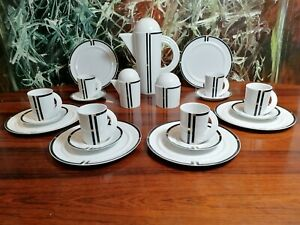 Rosenthal Studio Line Cupola Nera - Noble 21 Piece Coffee Service for 6 Pers