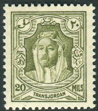 More details for transjordan-1939 20m olive-green perf 13½x13.  an unmounted mint example sg 201a