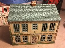 VINTAGE 1948 F.W. WOOLWORTH'S PLAYSTEEL 5 ROOM TIN LITHO METAL DOLL HOUSE