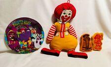 Lot of 3 McDonald's Items, Ronald, Birdie, Hamburglar, Halloween Plate, Sponges