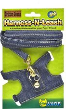 Ware Ferret Walking Jacket Denim Jeans Harness N Leash Small Critter with Lead