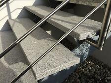 Trittstufe Granit grau rutschsicher wetterfest 6cm dick Blockstufe Naturstein