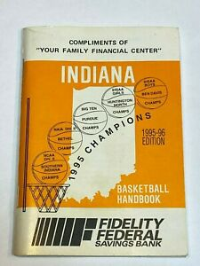 Indiana Basketball Handbook 1995 1996 Marion Crown Point Champions Bill Green +