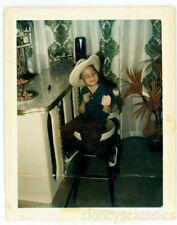 1970 African American Black Boy cowboy Good Humor Ice Cream Polaroid