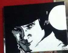 "Hand-Painted Custom Malcolm McDowell ""A Clockwork Orange"" 14x11in"